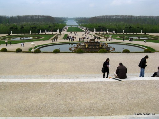Fountains walks and the grand canel of Versailles