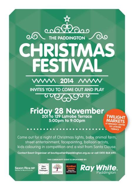 Paddington Christmas Festival