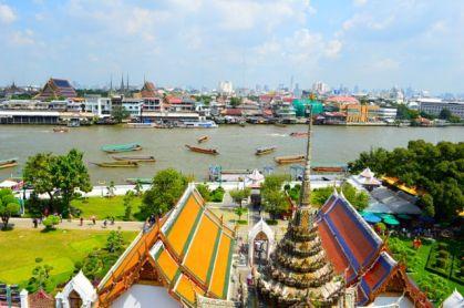 The view from Wat Arun Bangkok