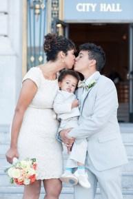 NYC City Hall wedding. Image courtesy of Refinery 29.