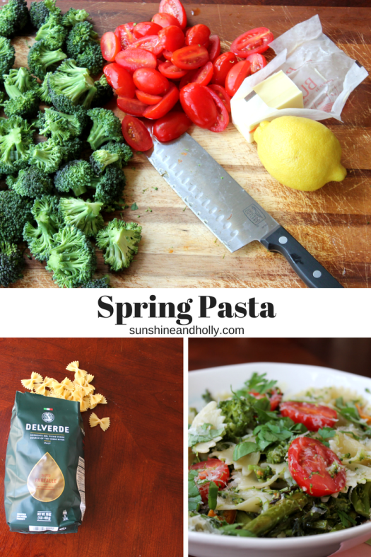 Spring Pasta with Vegetables | sunshineandholly.com