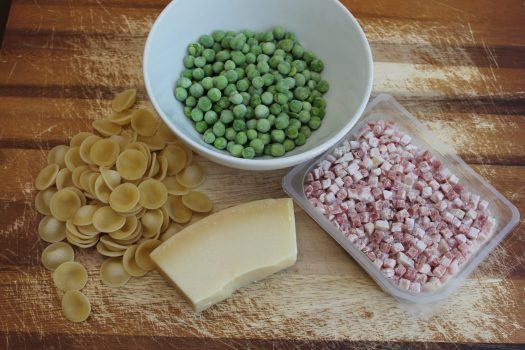 Orecchiette with Peas, Pancetta, and Parmesan | sunshineandholly.com