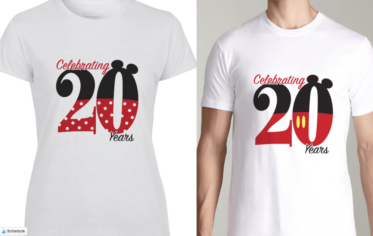 Adorable matching disney world t shirts for couples for Restaurant t shirt ideas