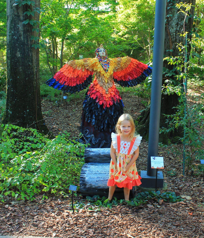 Scarecrows in the Garden at the Atlanta Botanical Garden | sunshineandholly.com | fall family activities | kids activities | autumn fun