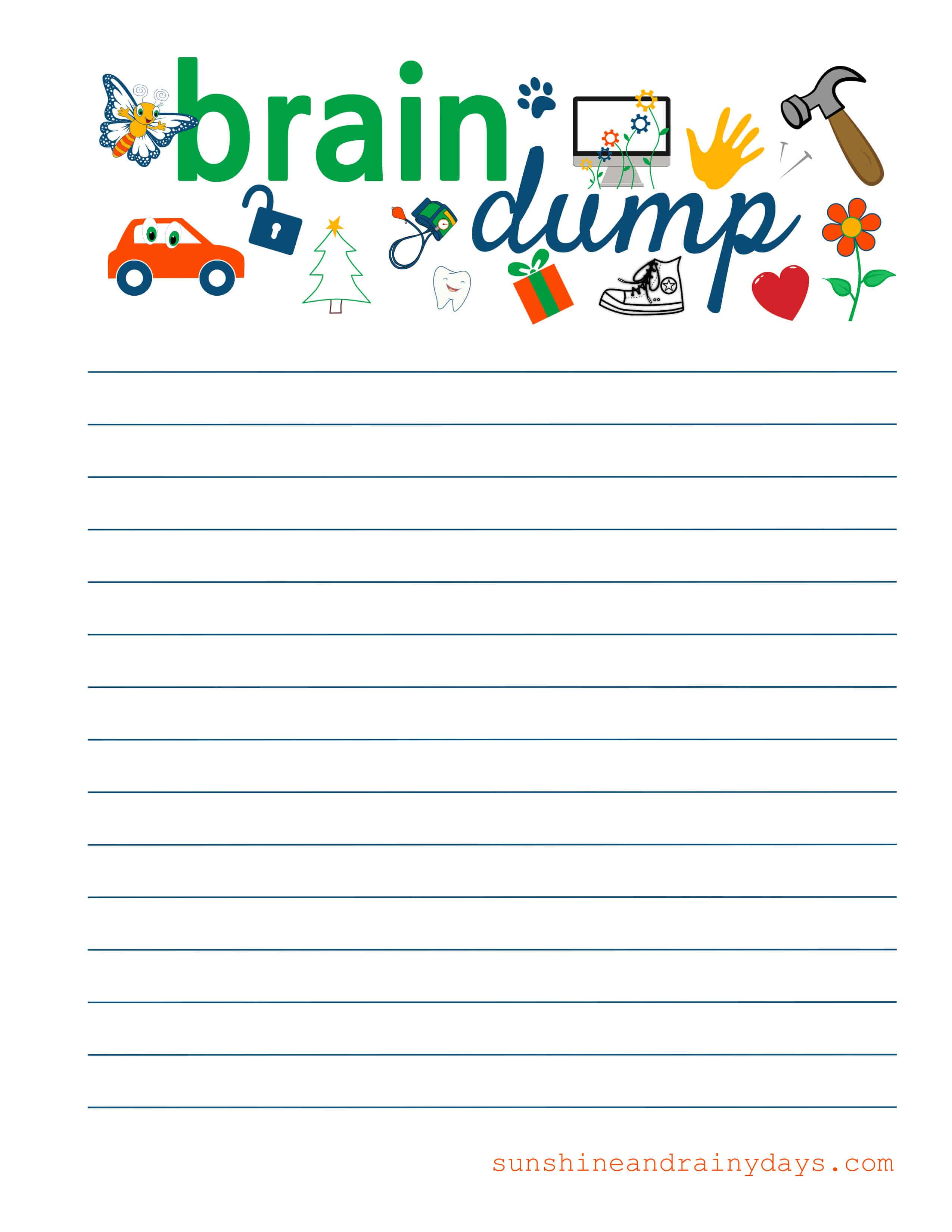 Impeccable Brain Dump Worksheet