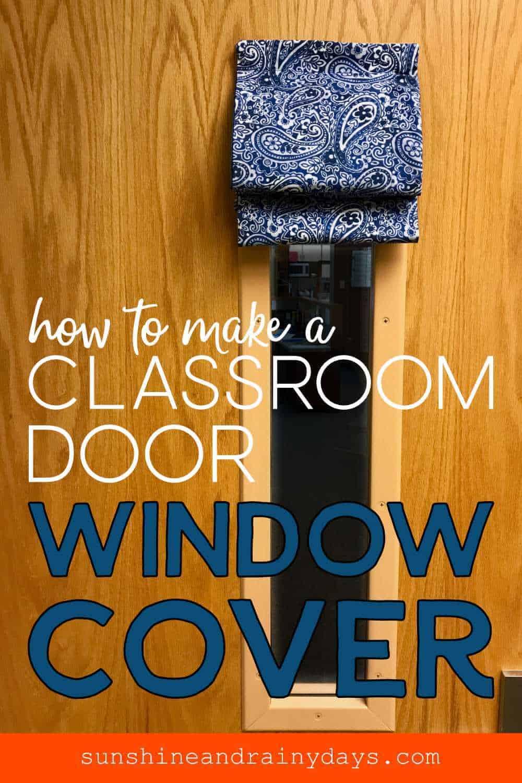 classroom door window covering