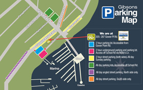 Gibson's Parking Map