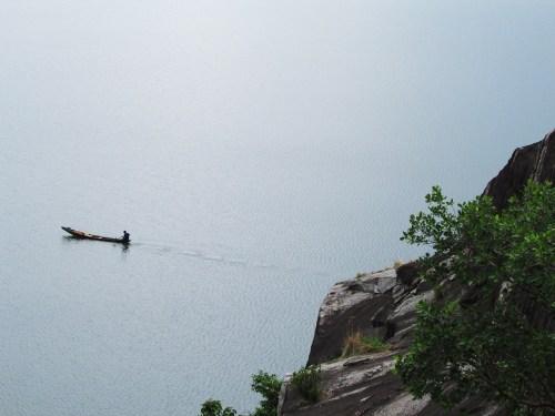 Usman Dam.Fisherman on Lake