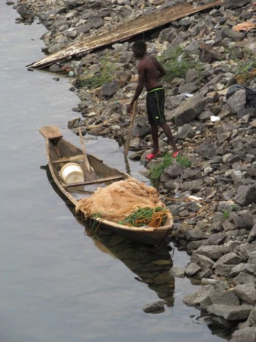 Usman Dam.Fisherman