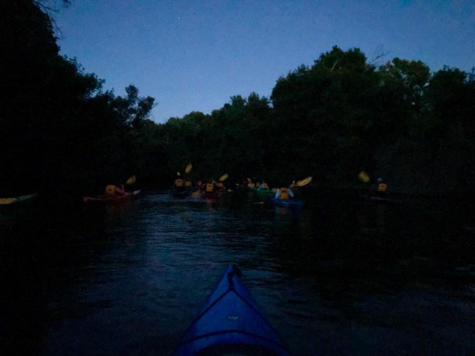 Paddling in the dark