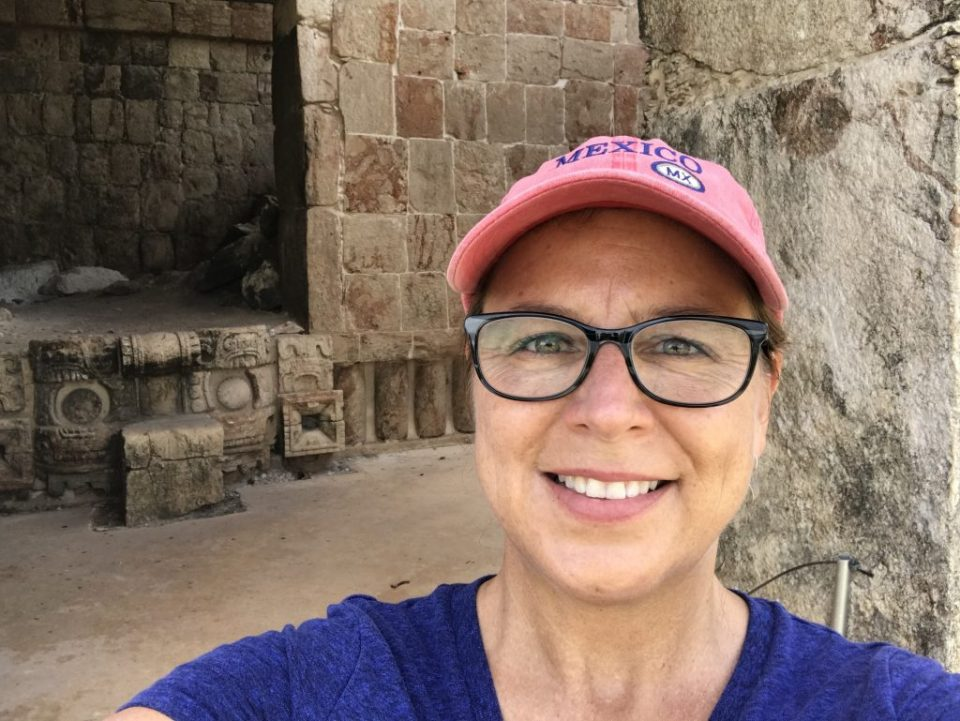 Gretchen & Chaac, Uxmal, Mexico