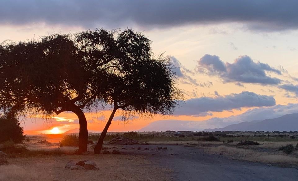 Sunrise in Mto wa Mbu, Tanzania