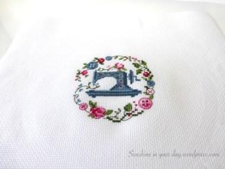 same Cross Stitch after ironing