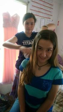 Allie doing my hair