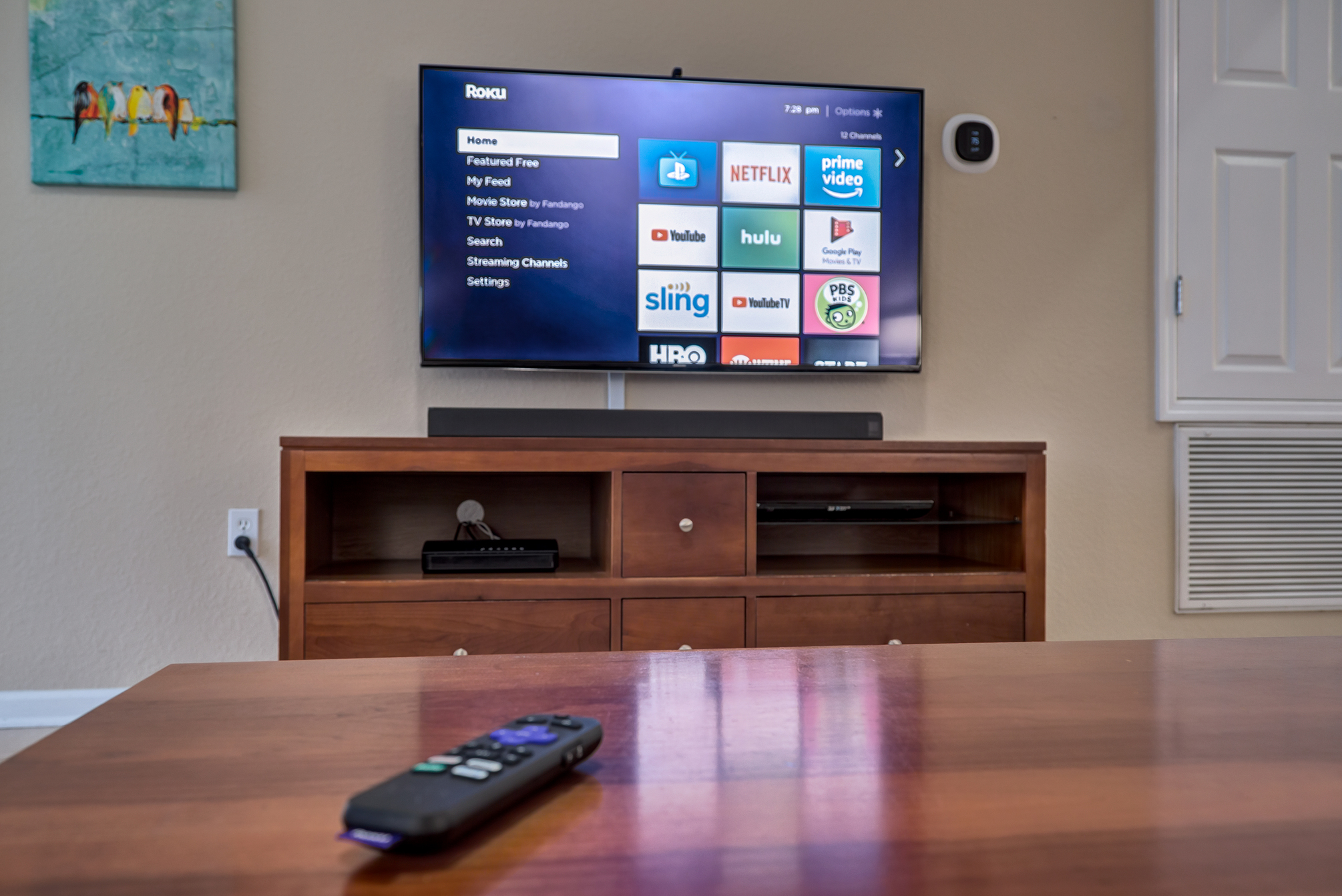 Living Room Television and Media Console