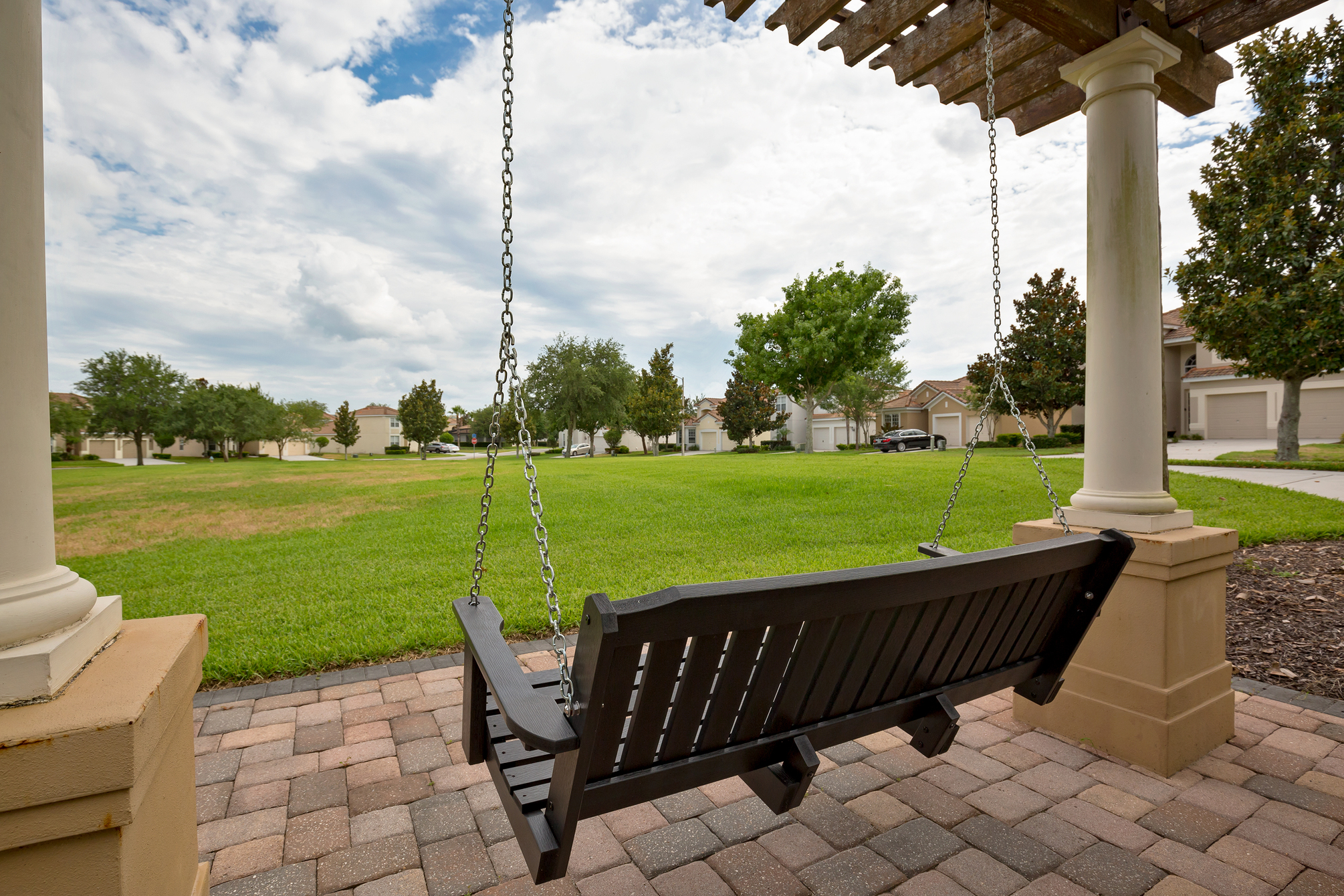 Park Bench Swing and Field