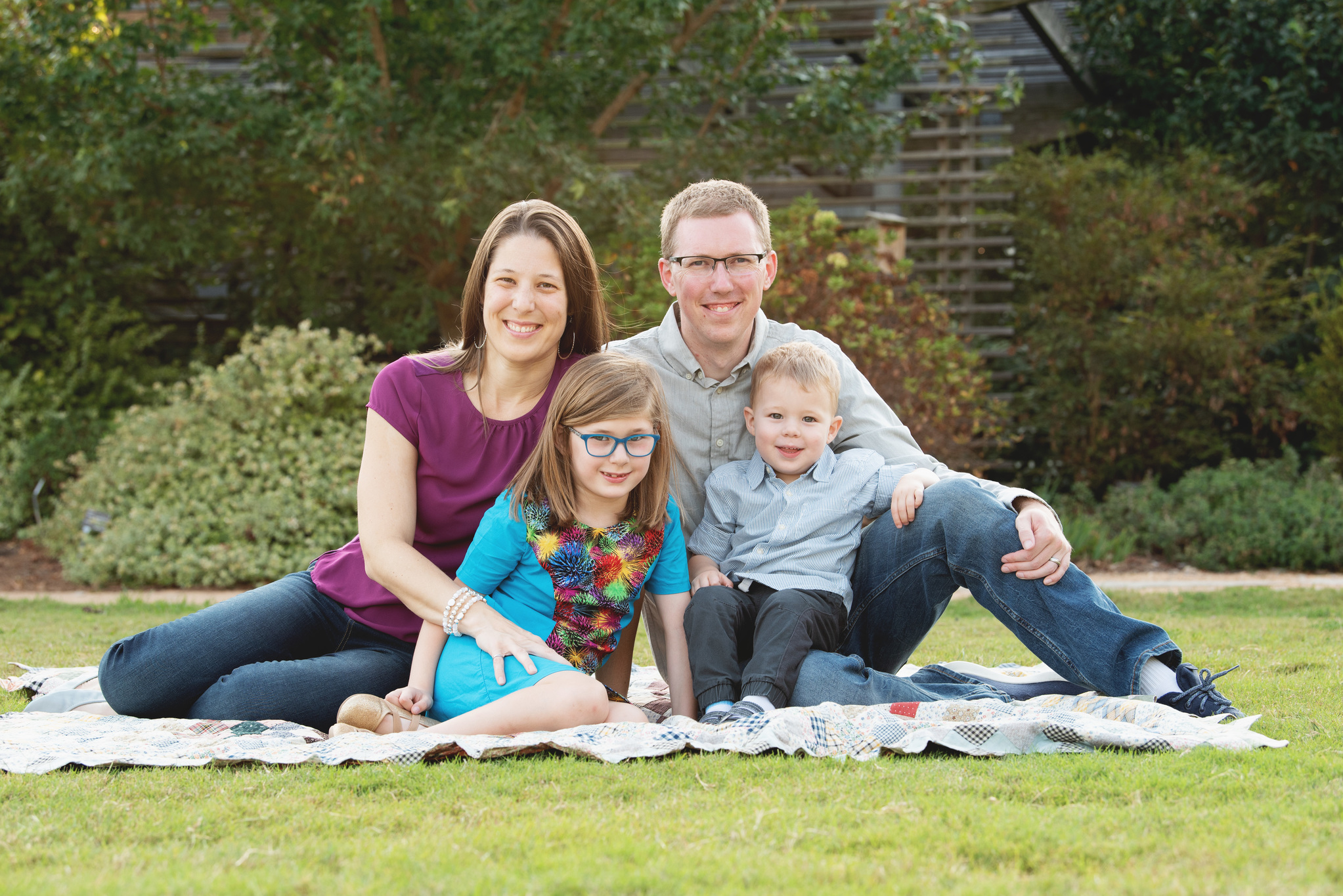 MacIntyre Family on Blanket