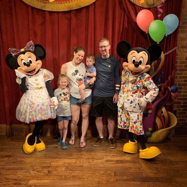 MacIntyre Family with Mickey and Minnie at Magic Kingdom