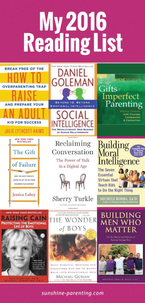 Sunshine Parenting 2016 Reading List