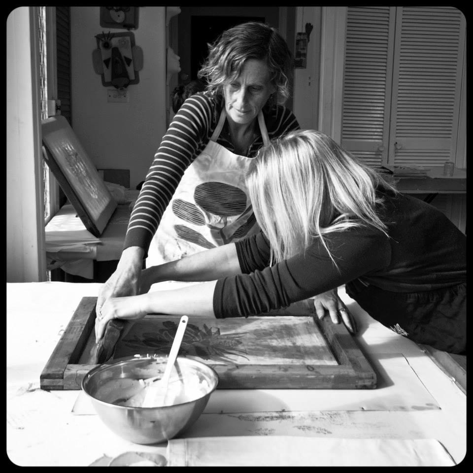 Nicola Cerini printing-at-Zeally-Cliff