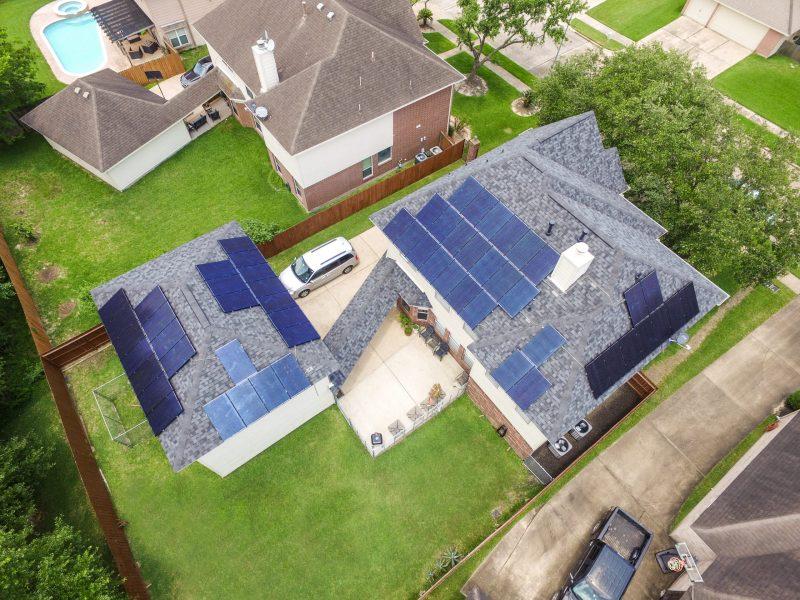 Pasadena Texas Roof Solar Energy System Installed