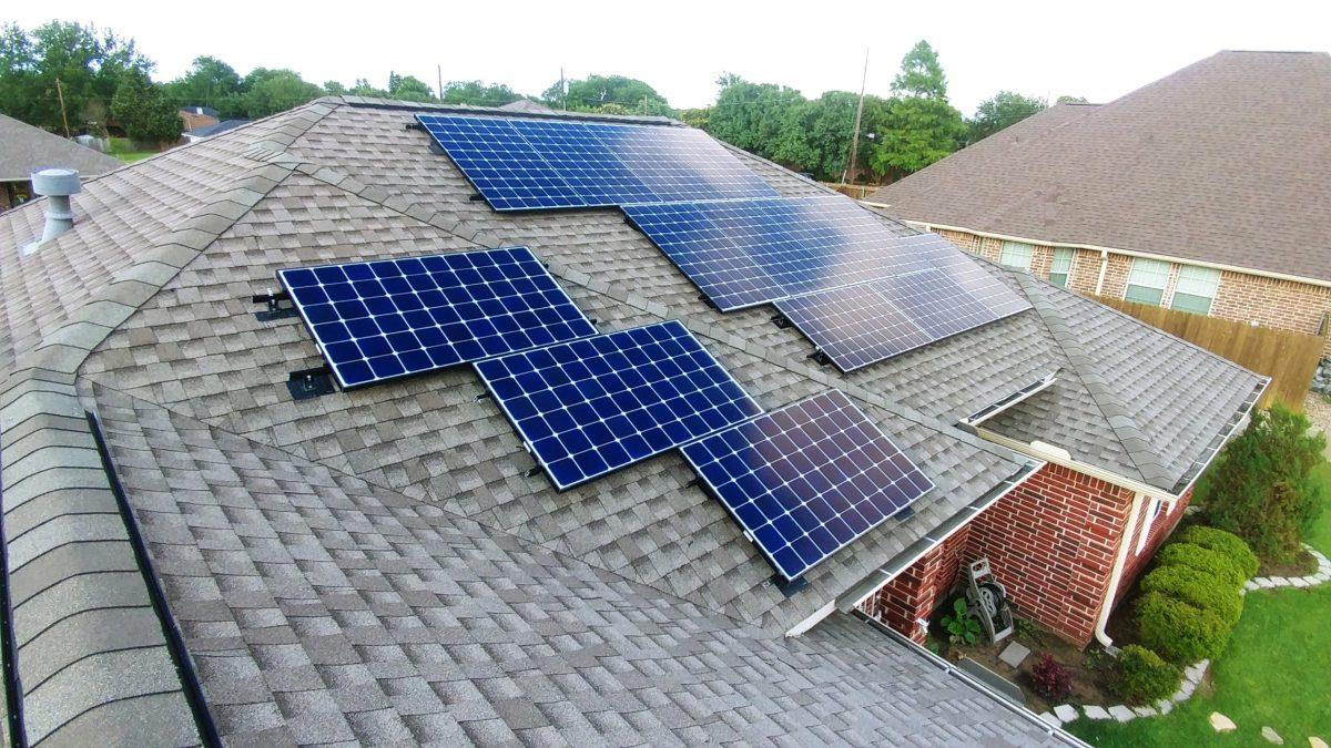 Roof mount solar panel installation