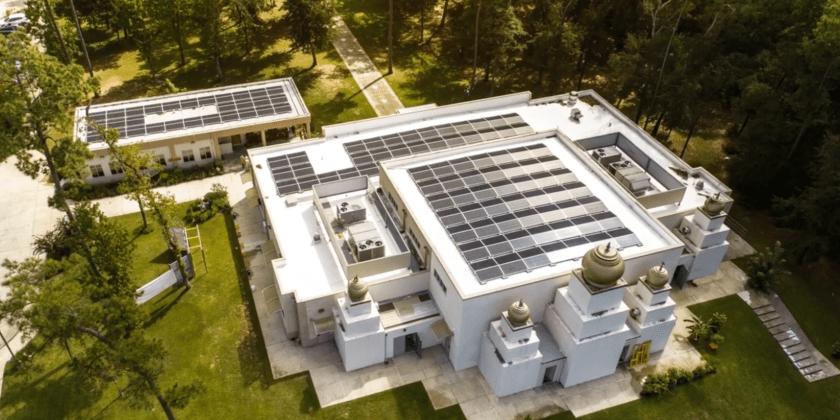 commercial solar installation woodlands