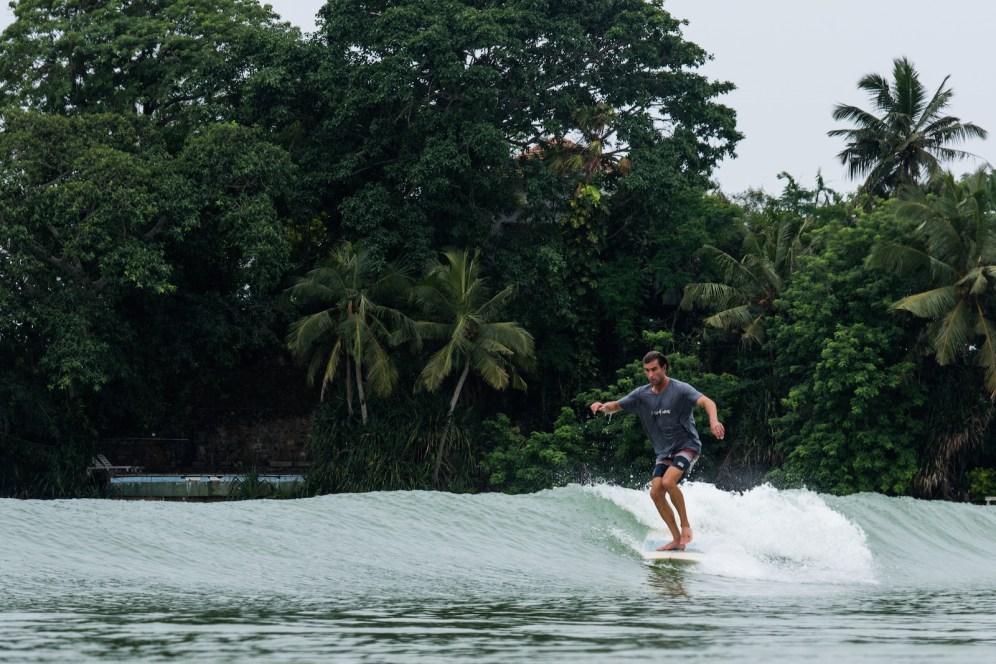 Josh surfing Island Weligama