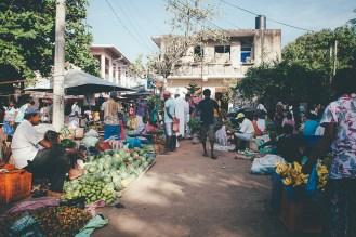Weligama market in Sri Lanka