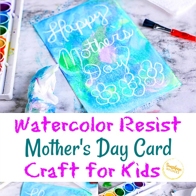 From toddlers to teenagers, these mother's day crafts for kids cover every level of crafting skill. Watercolor Resist Mother S Day Card Craft For Kids