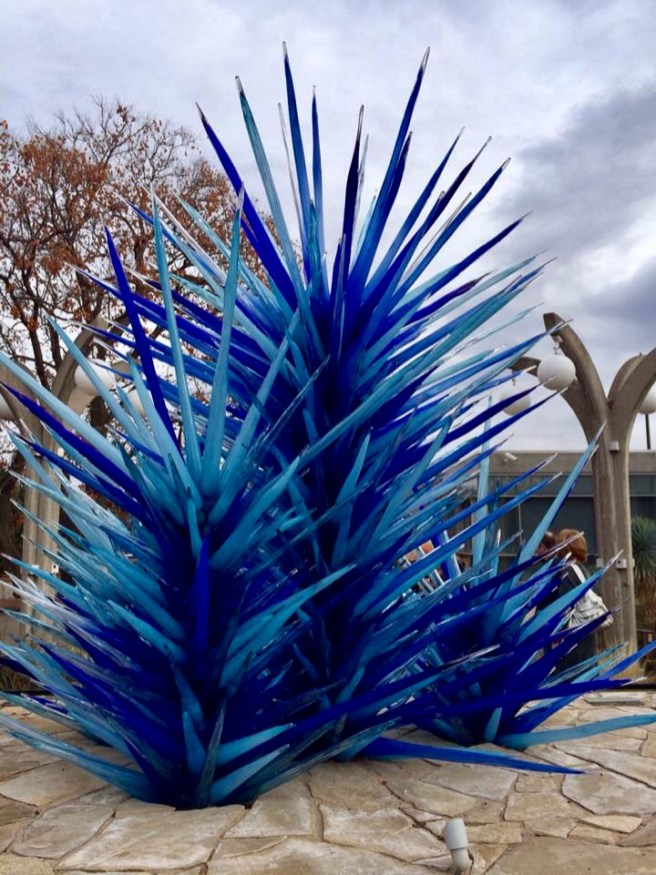 A Chihuly piece at the Denver Botanic Gardens in 2014.