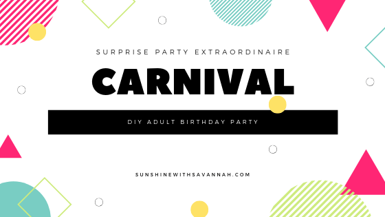 carnival-themed birthday