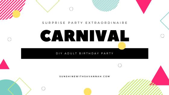 carnival-themed birthday