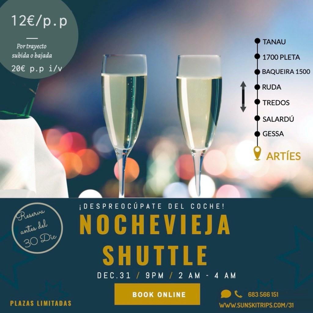 NYE - Nochevieja Schuttle from Tanau to Artíes.