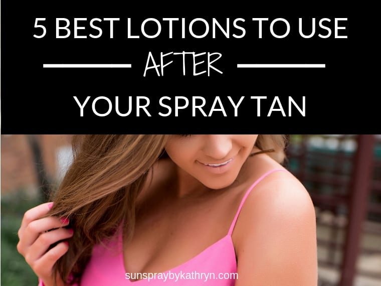 5 best lotions to use before a spray tan SunSpray blog feature image