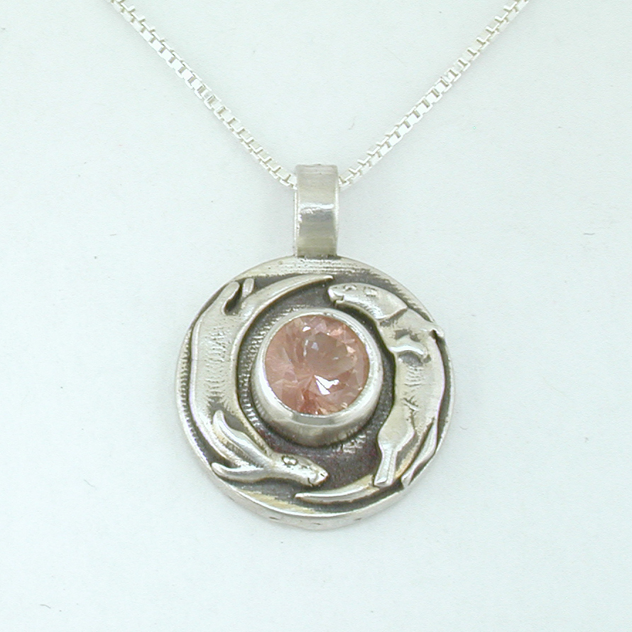 Playful Otter Pendant With Sunstone The Sunstone Store
