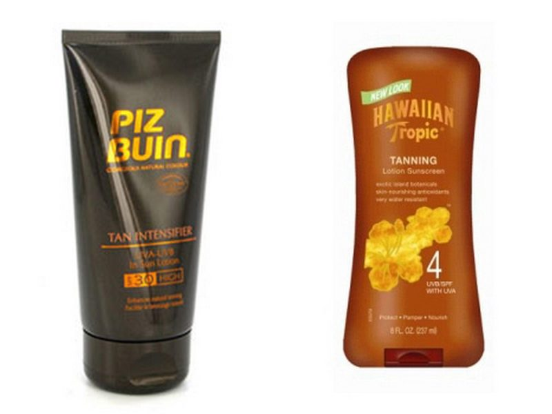 STAY SUN SMART AND TAN WHILE PROTECTING YOUR SKIN piz buin and hawaiian tropic