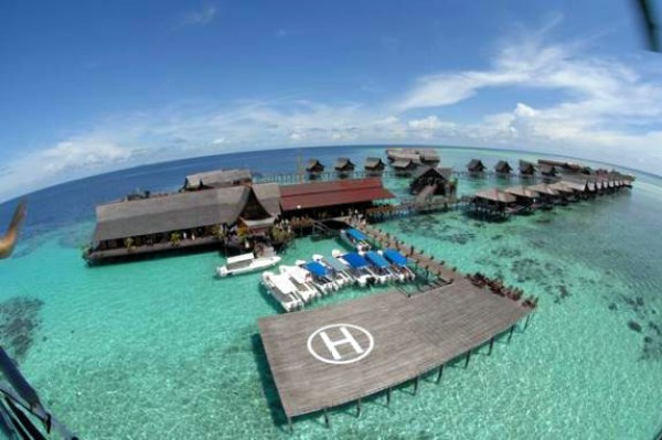 best luxury beach resorts in Malaysia sipadan helipad