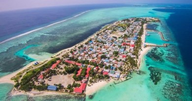 AFFORDABLE LUXURY FOR ALL IN MAAFUSHI MALDIVES Island aeriel view