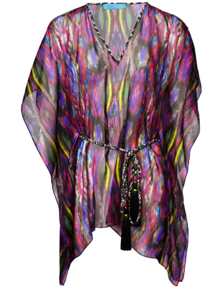 STAND OUT WITH MATTHEW WILLIAMSON BEACHWEAR rainbow kaftan