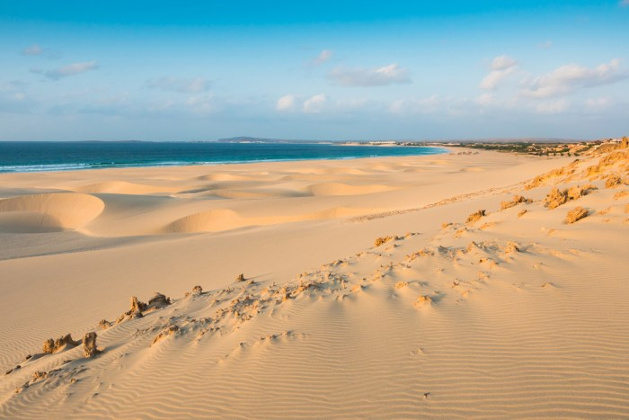 praia de chaves sandy beach in cape verde islands