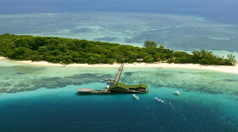 lankayan island aerial view