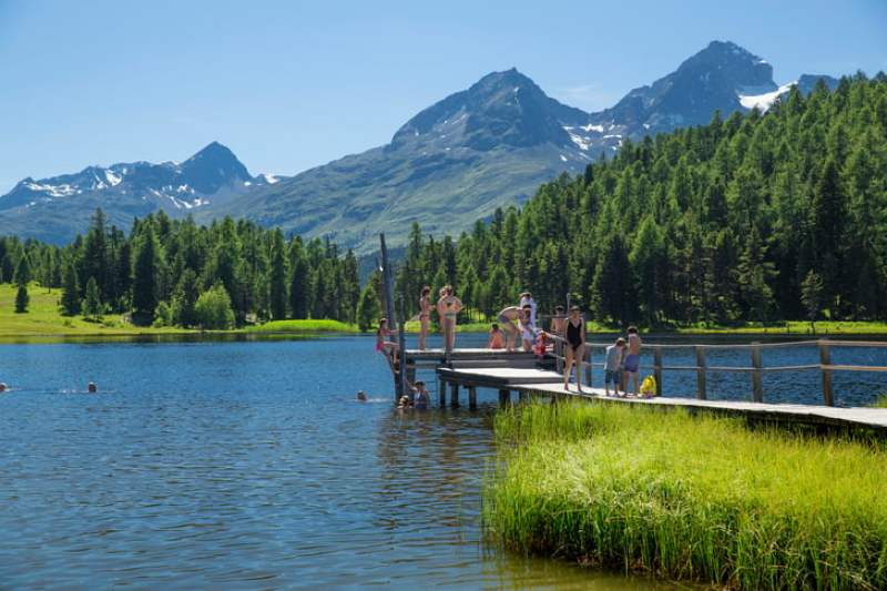 best-lakes-to-swim-in-switzerland-in-summer-lake-staz-st-moritz