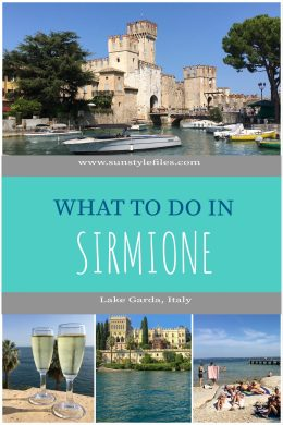 What to do in Sirmione in Lake Garda Italy Pinterest cover #italy #lake #sunsetcruise #island #travelguide #travel #beaches
