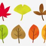秋の落ち葉に関する無料イラスト