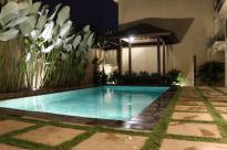 Pool light up at night