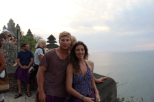 Us at the temple for sunset