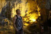 Dan standing inside the cave