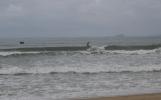 Dan surfing a right hander