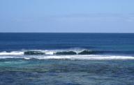 Good surf, clear blue skies